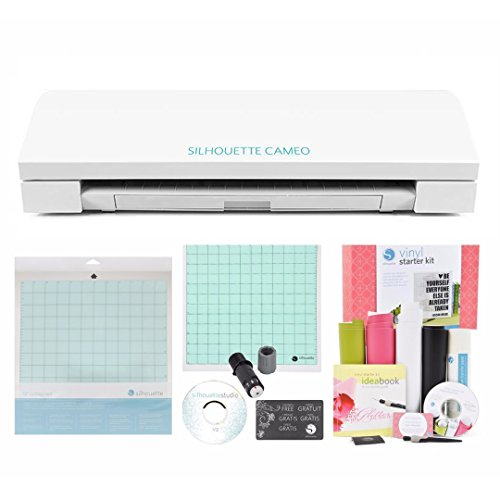 Silhouette Cameo Electronic Cutting Machine Vinyl Starter Kit Bundle by Silhouette