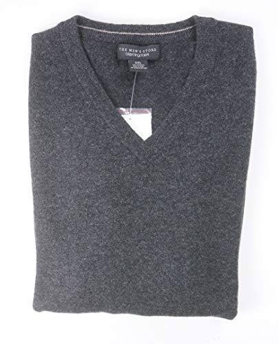 - Bloomingdale's New $198 Coal 2 PLY 100% Cashmere V-Neck Sweater Size XL