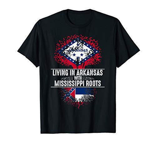 Arkansas Home Mississippi Roots State Tree Flag Shirt Gift