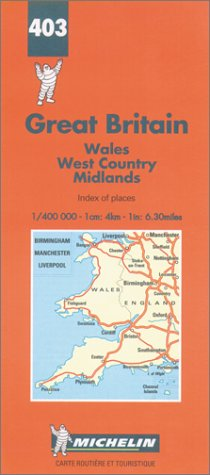 Michelin Wales/West Country/Midlands, Great Britain Map No. 403 (Michelin Maps & Atlases)