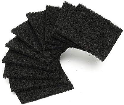 TOOGOO 10 Piezas de Esponja de Filtro de CarbóN Activado para ...