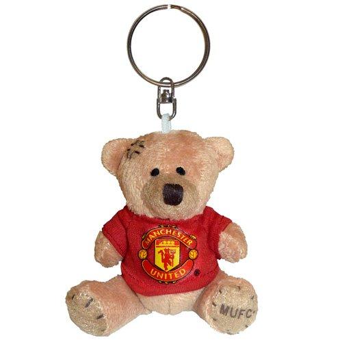 Manchester United FC - Schlüsselanhänger mit Teddybär - Kuscheltier - Offizielles Merchandise - Geschenk für Fußballfans