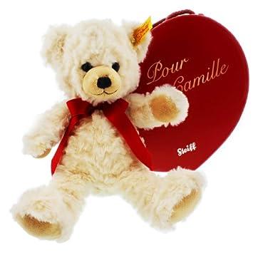Oso de peluche en caja corazón personalizado – regalo de St Valentin, día de la