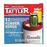 Tattler Rubber Rings Half Pint Wide Mouth Boxed by Tattler Reusable Canning Lids