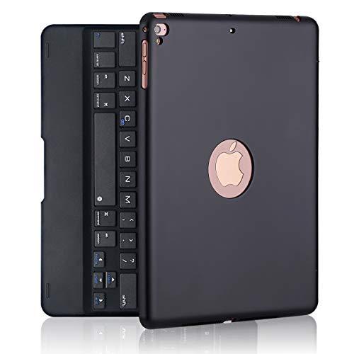 iPad Keyboard Case for iPad Pro 9.7 Inch, New 2018 iPad, 2017 iPad, iPad Air 1 and 2 Bluetooth Keyboard with 130 Smart Folio Hard Back Cover, Ultra Slim, Auto Wake and Sleep