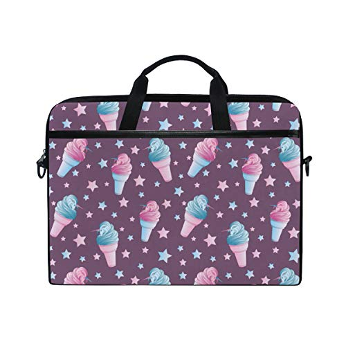 PENGTU 15-15.4 Inch Laptop Bag Seamless Pattern Surreal Unicorn Which Emerge Shoulder Messenger Bags Sleeve Case Tablet Briefcase with Handle -