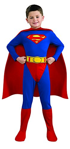 Superman Child's Costume, Medium (Easy Halloween Costumes Men)
