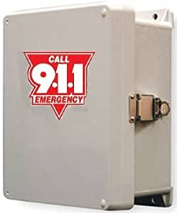 Waterproof Outdoor 911 Only Phone and Enclosure Emergency Phone Call Box