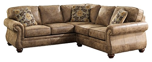 Ashley Furniture Signature Design - Larkinhurst 2-Piece Sectional - Left Arm Facing Sofa & Right Arm Facing Loveseat - Earth