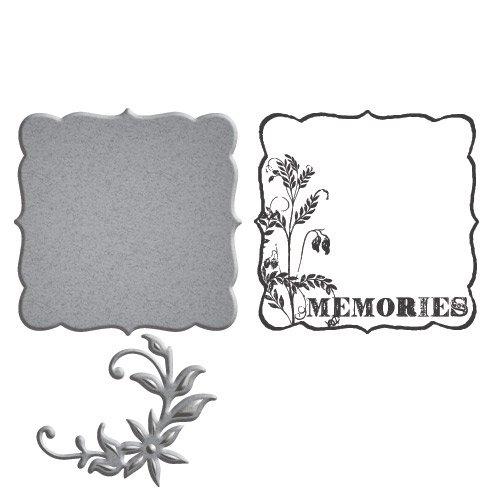 Spellbinders SDS-024 N/A Stamp & Die Set-Memories by Spellbinders B01ELLBYLC