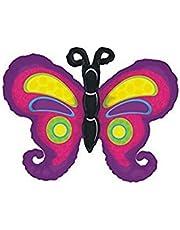 Grabo 23 Inch Purple Colourful Butterfly Foil Balloon