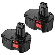 Powerextra 2 PCS 14.4V 3500mAh Replacement Battery for Dewalt DC9091 DW9091 DW9094 DW9094 DC9091 DE9038 DE9091 DE9092 Batteries Cordless Power Tools