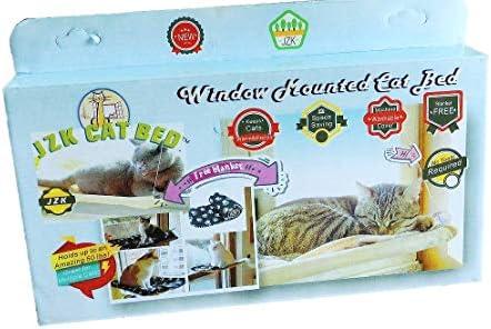 JZK hamac de fenêtre pour chat + couverture de chat,Ventouse animaux de compagnie suspendus lit et couverture noire pour animaux de compagnie pour la perche de chat