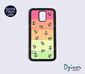 Galaxy S5 Heavy Duty Tough Case Cover - Tropical Anchors