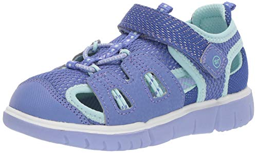 Stride Rite baby-girls River Sandal, purple 10 M US Toddler