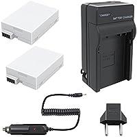 Bonadget 2 Pack 1800mAh Replacement Canon LP-E8 Battery and Charger for Canon Rebel T2i T5i T4i T3i EOS 600D 550D 650D 700D Kiss X5 X4 X6 LC-E8E