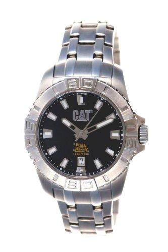 Caterpillar YF 141 11 121 - Reloj de Caballero de Cuarzo, Correa de Acero Inoxidable Color Plata: Amazon.es: Relojes