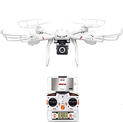 MJX X101 RC Quadcopter with Gimbal 2.4 Ghz 6-axis Rc Helicopter Drone with 1.0MP 720p HD FPV Real-Time C4008 Camera Compatible with 3D VR Headset from MJX RC