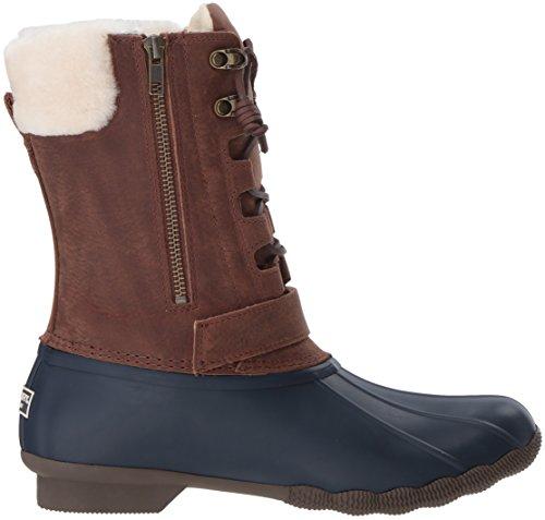 Sperry Top-Sider Women's Saltwater Misty Thinsulate Rain Boot Navy/Brown