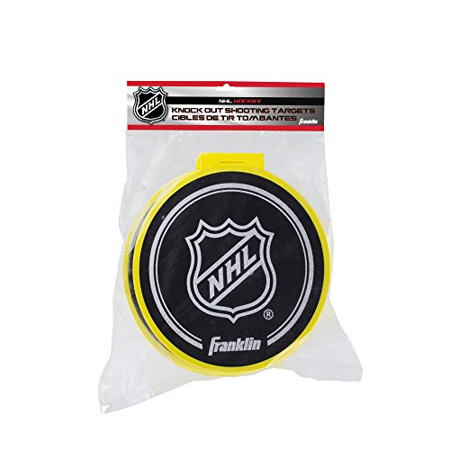 Goal Target Shooting Championship - Franklin Sports Hockey Shooting Targets - NHL - 4 Knock Out Targets with Goal Attachments