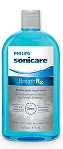 Phillips sonicare BreathRx Anti-bacterial Mouth Rinse, 3 Bottle Economy Pack (Each bottle is 33 oz) by Phillips sonicare BreathRx
