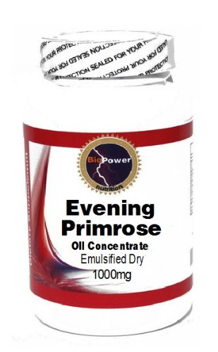 Evening Primrose Oil Concentrate (Emulsified Dry) 1000mg 200 Capsules # BioPower Nutrition
