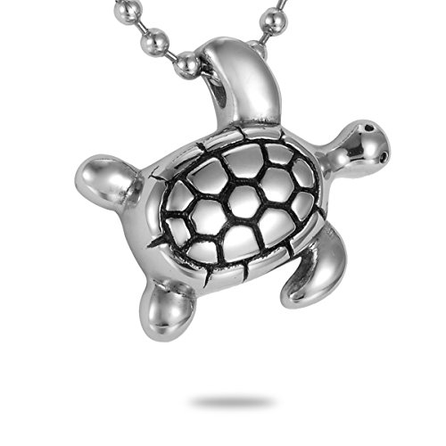 Lovely Turtle - HooAMI Cremation Jewelry Silver Lovely Turtle Charm Pet Memorial Urn Necklace Ashes Keepsake Pendant