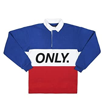 amazon co jp only ny logo rugby shirt オンリー ニューヨーク ロゴ