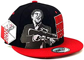 Scarface New Top Pro Money Power Respect Black Red White Era Snapback Hat Cap