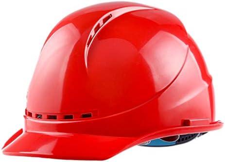 XINGZHE 建設ヘルメットキャップスタイルのハード帽子調整可能なラチェット4 Ptサスペンションハード非換気帽子調節可能なヘルメットABSエンジニアリングヘルメ 安全ヘルメット (Color : Red)