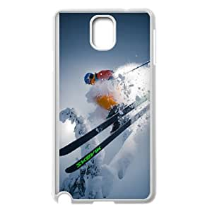 Samsung Galaxy Note 3 Cell Phone Case White Skiing Q0287092