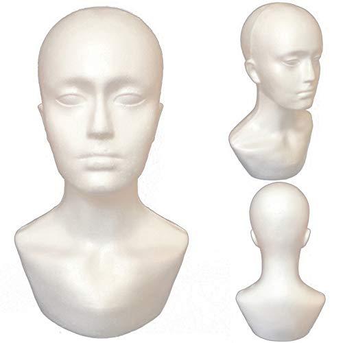 SODIAL Modello maschio del manichino della sciarpa del cappello delle manichette della testa del manichino dell'esposizione maschio della schiuma