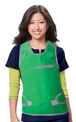 (Vest-Wrap Regular Lead X-Ray Protective Vest, 0.5mm Pb Front, 0.25mm Back Pb, Female, Hook & Loop Closure, Small)