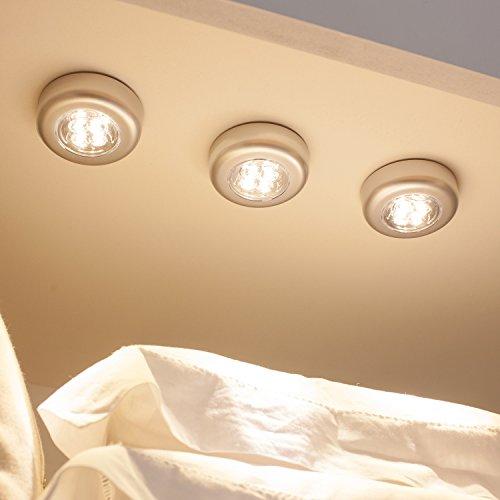 3er Set LED Push Light Unterbauleuchte warmweiß