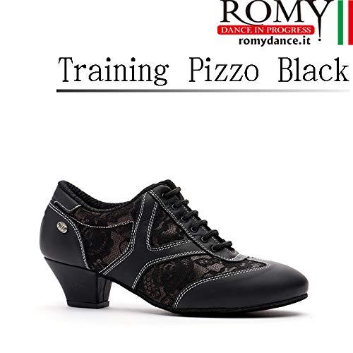 (ロミーダンス)ROMY dance「Training Pizzo Black(レディース トレーニング シューズ)」|女性|レディース|シューズ|ダンス|社交ダンス|ラテン|スタンダード B07RW3TW53  37.5(23.5cm)
