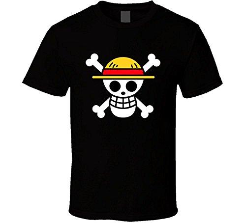 - SANHUI Creative One Piece Logo Short Sleeve O-Neck T Shirt for Men (XL)