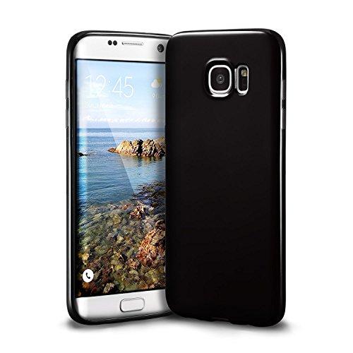 Galaxy S7 edge Black Case, technext020 Galaxy S7 edge Case silicone protective back cover Slim Fit Samsung Galaxy S7 edge bumper