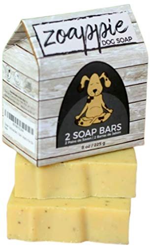 Dog Shampoo Bar – Natural, Organic, Gentle Care for Dogs and Easy on The Environment – Vegan, No Palm Oil, Zen -Handmade in USA. 2 Dog Soap Bar Count – Dog Bath Supplies
