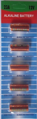4 pcs 23A Card 12V Alkaline Battery Compatible with 23 VR22 23GA V23GA 23A 23GA A23 E23A GP-23A GP23A GP-23AE LR23A LRVO8 V23 plus Hillflower Coupon by (Personal Coupon Book)