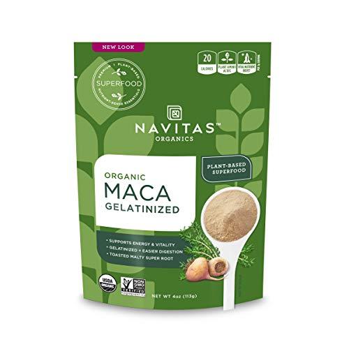 Navitas Organics Maca Gelatinized Powder, 4 oz. Bag - Organic, Non-GMO, Gluten-Free