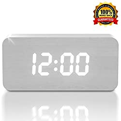 [New Upgraded] 2018 LED Alarm Clock - Cute Digital Display Model for Heavy Sleepers - Get Today 100% Warranty - Travel Clocks for Adults, Teens & Kids, Girls and Boys - Limited Edition