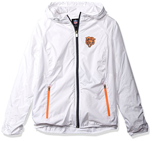 Bears Jacket - GIII For Her NFL Chicago Bears Women's Spring Training Light Weight Full Zip Jacket, X-Large, White