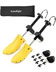 StyledRight Shoe Stretcher Set can be used to stretch the length AND/OR width of your tight-fitting shoes. Suitable for use on both Men and Women's shoes, it helps to stretch and expand shoes if it's too tight, or for people with wide feet.WH...