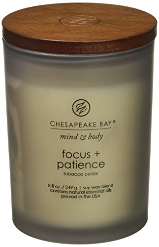 Chesapeake Bay Candle Mind & Body Collection Medium Jar Candle, Peace + Tranquility -  - living-room-decor, living-room, candles - 4160YZJH6VL -
