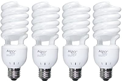 ALZO 27W Joyous Light Full Spectrum CFL Light Bulb 5500K, 1300 Lumens, 120V, Pack of 4, Daylight White Light