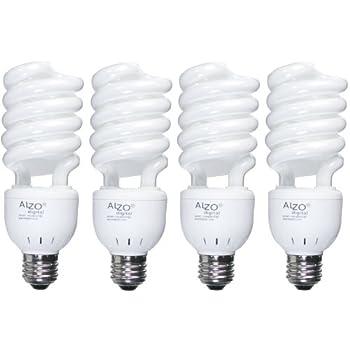 alzo 27w joyous light full spectrum cfl light bulb 5500k lumens 120v