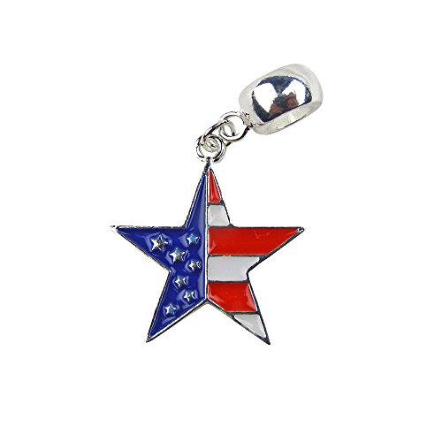 Universal Red White & Blue Flag Star ()