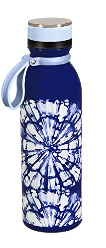 Cypress Home Shibori Stainless Steel Water Bottle, 20 Ounces