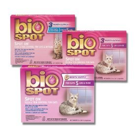 Bio Spot Spot on for Cats over 5-Pound, 6 Month Supply