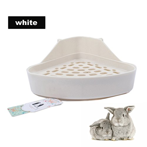 Mkono-Potty-Trainer-Corner-Litter-Box-for-Hamster-Guinea-Pig-Ferret-Gerbil-Chinchilla-Random-Color